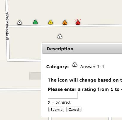 Icon Symbology can change based on survey data